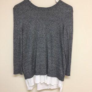 Calvin Klein Gray sweater w/ blouse detail Small